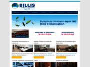 screenshot http://www.billis-climatisation.com climatisation à paris avec billis climatisation