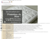 screenshot http://www.biosense.fr biosense bedding, matelas en latex naturel
