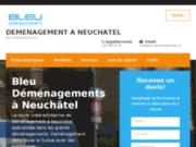 screenshot http://bleu-demenagements.ch/ déménagement à Neuchâtel