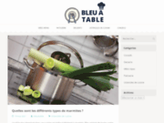screenshot http://www.bleuatable.com bleu à table