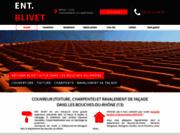 screenshot http://www.blivet-toiture-facade.fr Travaux de toiture et de façade à Châteauneuf-les-Martigues 13