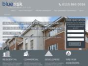 screenshot http://www.blueriskmanagementuk.com procédures des evalutions des risques angleterre