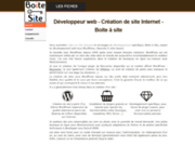 screenshot http://www.boiteasite.fr site internet