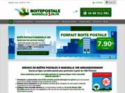 screenshot http://www.boitepostalemarseille.fr Ouvrir une Boite Postale pour particuliers et entreprises à Marseille