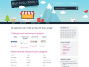 screenshot http://www.bon-reductions.fr Bonnes affaires et livraison gratuites