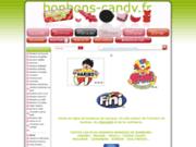 screenshot http://www.bonbons-candy.fr le site des bonbons et des gourmands