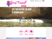 screenshot http://www.bonifacio-kayak.com site du club bonif kayak