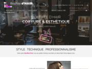 screenshot http://www.bouffeedhair.com/ salon de coiffure