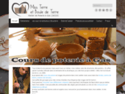 screenshot http://www.bouledeterre.com les poteries artisanales de miss terre