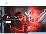screenshot http://www.bouticrea.com bouticréa, vente en ligne loisirs créatifs et idées déco à faire soi-même