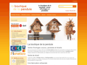 screenshot http://www.boutique-pendule.fr boutique de la pendule