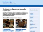 screenshot http://www.boutiquesenligne.fr boutiques en ligne