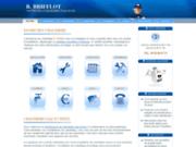 screenshot http://www.brifflot.fr agent de maintenance chauffage