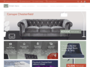 screenshot http://www.britishdeco.com/ canapé chesterfield en cuir