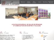 screenshot http://www.buroconseils.com/ Location de bureaux à Toulouse