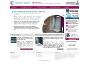 screenshot http://www.cabines-de-douche.fr/ avantages douches modernes
