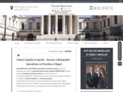 screenshot https://www.cabinet-argellies-apollis.fr/ Cabinet SCP à Montpellier