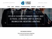 screenshot http://www.cabinet-hached.net avocat paris spécialiste en droit des affaires, droit des étrangers