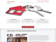 screenshot http://www.cabinet-raimon.com cabinet j. raimon immobilier paris 13eme