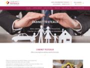 screenshot https://www.cabinet-testeaux.com/ courtier en prêts immobiliers, crédits et rachat de crédits, assurances