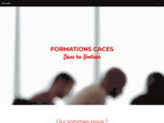 screenshot https://www.cacesacademie.fr/ Formation caces