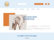 screenshot http://www.cadeauenfants.com petits cadeaux pour anniversaire d'enfant