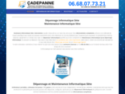 screenshot https://www.cadepanne.com Dépannage Informatique - Maintenance Informatique