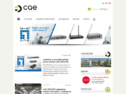 screenshot http://www.cae-groupe.fr/ système de communication