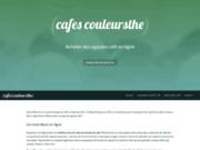 screenshot http://www.cafes-couleursthe.com cafés et thés d'exception