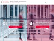 screenshot http://www.cairn-experts.fr/ management de transition