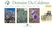 screenshot http://www.calabrun.fr domaine du calabrun