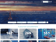 screenshot http://www.calista-rh.fr/ interim Paris