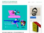 screenshot http://www.camillejourdain.fr/ le marketing sur le web