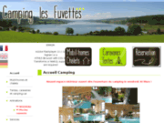 screenshot http://www.camping-fuvettes.com camping jura doubs piscine lac les fuvettes