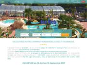 screenshot https://www.camping-les-iles.com camping Normandie Les Îles