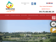screenshot http://www.campingdrome.fr camping le grand cerf drôme