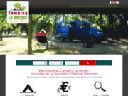 screenshot http://www.campingleverger17.com Aire naturelle de camping proche de La Rochelle