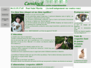 screenshot http://www.canidocil.com canidocil éducation canine   pension familiale