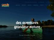 screenshot http://www.canoes.fr canoes d'anjou pour des aventures grandeur nature