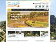 screenshot http://www.canoesud.com randonnée canöe