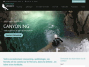 screenshot http://www.canyoning-speleo-aventure.com canyoning et spéléologie dans le Vercors