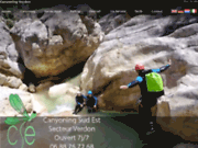 screenshot http://www.canyoning-sudest.com canyoning sud est dans les gorges du verdon.