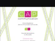 screenshot http://www.cap-communication.com/ agence de communication visuelle à paris 17, création de support publicitaire, affiches, plaquettes ou brochures