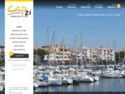 screenshot http://www.cap2i-immobilier.com vacances cap d'agde