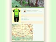 screenshot http://capvertvtt.free.fr/ Randonnées VTT en Comminges