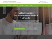 screenshot http://www.caravanedesentrepreneurs.com caravane des entrepreneurs