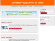screenshot http://www.carnetsdevoyage.fr carnets de voyage