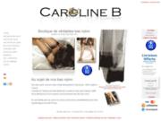 screenshot http://www.caroline-b.fr/ caroline b fashion bas nylon de luxe