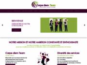 screenshot http://www.carpediem-team.fr coaching professionnel