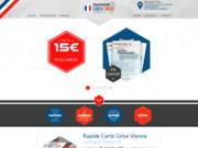 screenshot https://carte-grise-vienne.fr service de cartes grises
